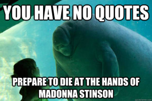 Funny Manatee Quotes