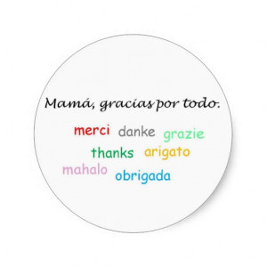 Spanish Quotes Round Sticker