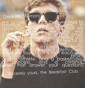 image from http imgkid com the breakfast club quotes brian shtml
