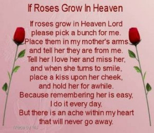 mothers day the death on facebook afer passing away re