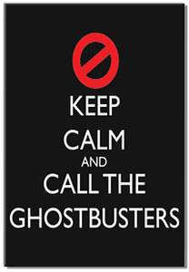 KEEP CALM and call the ghostbusters funny fridge magnet