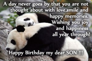 Happy Birthday quotes for son, hbd wishes greetings for Son, picture ...