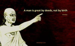Chanakya Quote on Great Men