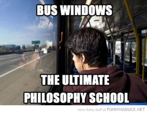 boy looking out bus windows ultimate philosophy school funny pics ...