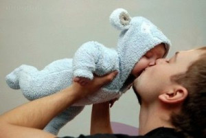 baby, cute, dad, father