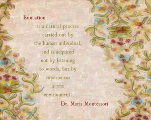 Maria Montessori Quote {Whimsical Artsy} Art Print