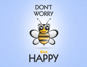 ... Inpirational Quotes » Dont Worry Be Happy Motivational wide Wallpaper