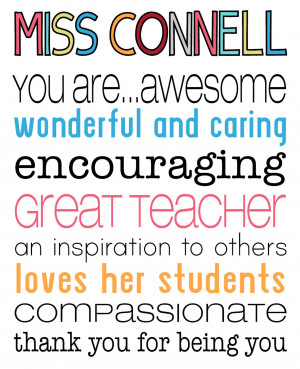 ... To Others Loves Her Students Compassionate Thank You For Being You