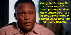 Barry Sanders quote