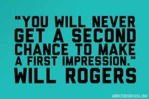 You only get one chance to make a great first impression.
