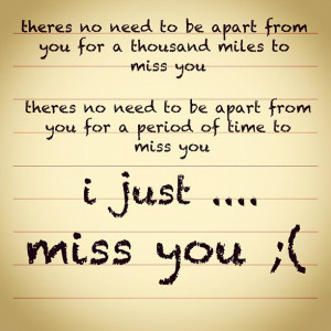 miss you quotes for him from the heart