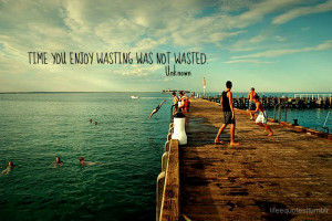 Time You Enjoy Wasting Was Not Wasted - Joy Quotes