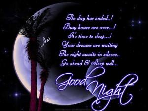 It's time to sleep…