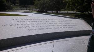 Arlington National Cemetery Photo: JFK Quote