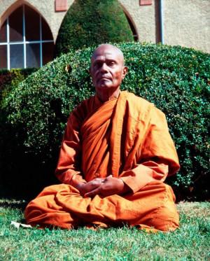 Henepola Gunaratana Sitting In Garden