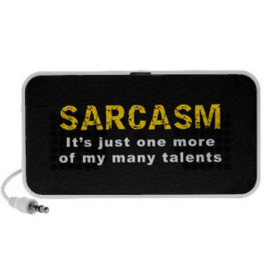 Sarcasm - Funny Sayings and Quotes iPhone Speakers