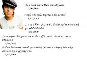Joe Jonas Funny Quotes...