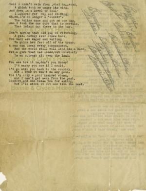 ... Bonnie, America Gangsters, 30 S Gangsters, Bonnie Parker Poems