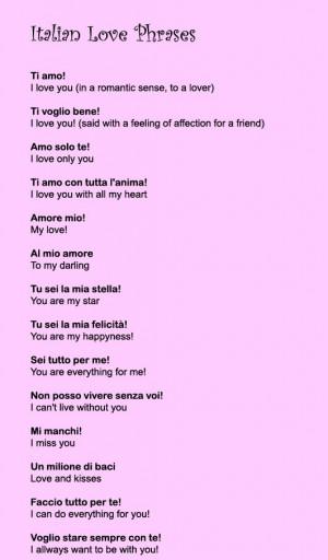 ... Italian Love Quotes, Italian Word, Italian Language, Italian Stuff