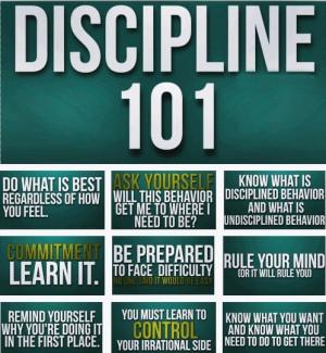 Discipline 101 #Books #Quotes #SelfHelp