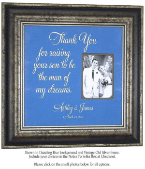 ... My Dreams wedding gift for parents of the groom by PhotoFrameOriginals