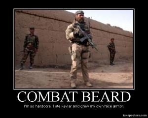 Combat Beard - Demotivational Poster