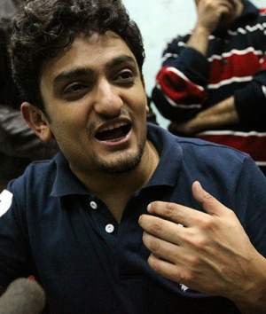 Egyptian cyberactivist Wael Ghonim speaks with the press at Cairo's ...