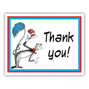 Dr. Seuss Thank You Card