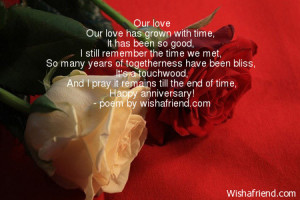 our love our love has grown with time it has been so good i still ...