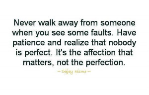 no one's perfect.