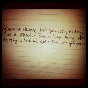 quotes about having patience