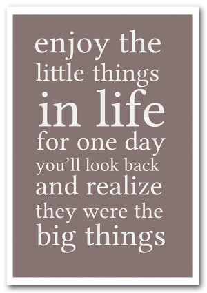 ... details for Motivational Quote Enjoy The Little Things In Life Beige