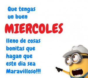 Minion Wednesday in Spanish...Miercoles