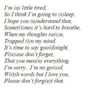suicide note.