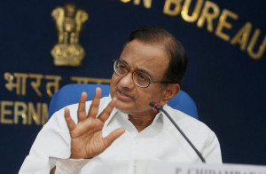 Union Finance Minister P.Chidambaram at a press conference in New ...