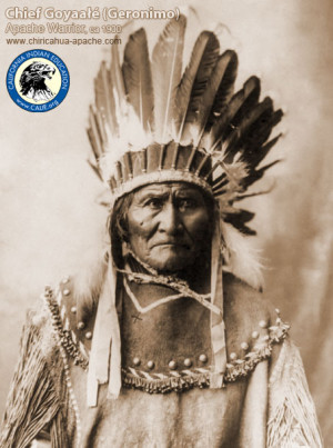 warrior geronimo apache goyaałé 1829 1909 chief geronimo