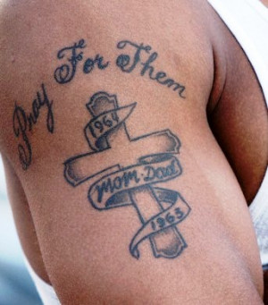 Cross Tattoos with Quotes
