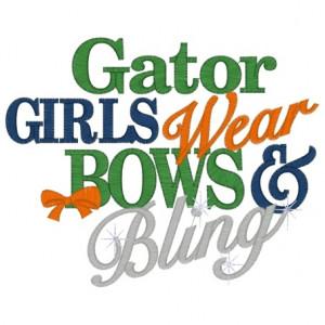 Sayings (3097) Gators Bows & Bling 5x7