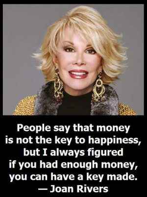Joan Rivers on telling it like it is.