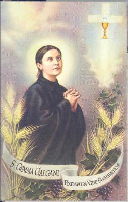 eucharistic quotes of st gemma galgani st gemma s devotion to the ...