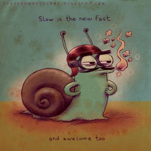 stuff-no-one-told-me quotes chicquero slow: SLOW IS THE NEW FAST ...