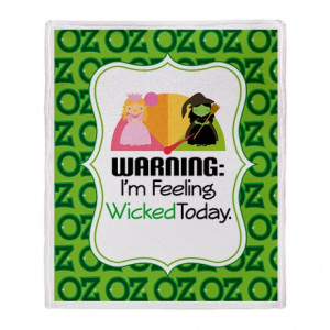 ... Wicked Living Room > Wizard Of Oz Wicked Witch Quote Throw Blanket
