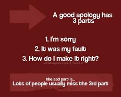 good apology