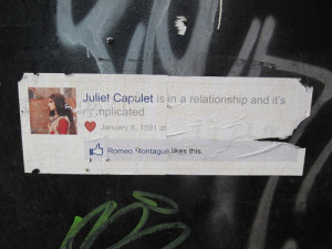 Juliet Capulet is in relationship and it's complicated.~ Love Quote