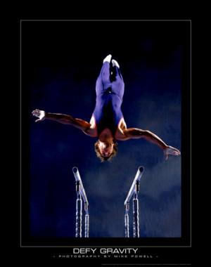 Men's Gymnastics DEFY GRAVITY Parallel Bars Motivational Poster Print ...
