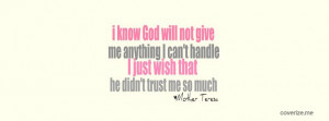 Mother Teresa Quote Facebook Cover