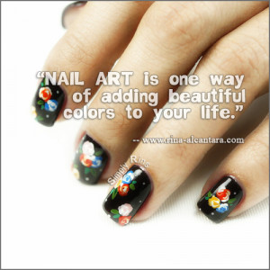 nail art used in photo is bunch of flowers note this nail art quote is ...