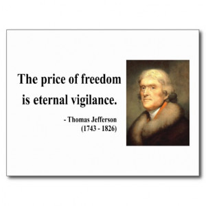 Thomas Jefferson Quote 2c Postcards
