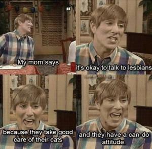 Stuart likes lesbians