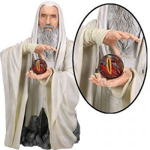 Lord of the Rings Saruman Christopher Lee Light-Up Bust Gentle Giant ...